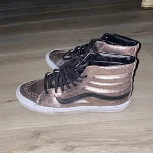 Vans gold hightops